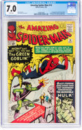 Silver Age (1956-1969):Superhero, The Amazing Spider-Man #14 (Marvel, 1964) CGC FN/VF 7.0 Whitepages....
