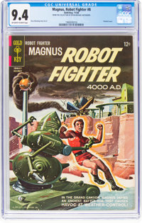 Magnus Robot Fighter #8 (Gold Key, 1964) CGC NM 9.4 Off-white to white pages