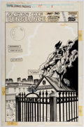 Original Comic Art:Splash Pages, Mark Texeira and Harry Candelario Marvel Comics Presents #65Splash Page 1 Original Art (Marvel, 1990)....