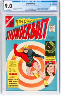 Thunderbolt #1 (Charlton, 1966) CGC VF/NM 9.0 White pages