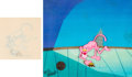 Animation Art:Production Cel, Pink Panther Production Cel and Anim...