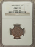 India:British India, India: British India. Victoria 3-Piece Lot of Certified 1/2 Pice NGC, ... (Total: 3 coins)