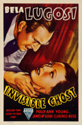 """Movie Posters:Horror, Invisible Ghost (Astor, R-1949). Folded, Very Fine-. One Sheet (27"""" X 41"""").. ..."""