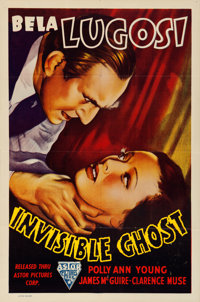 "Invisible Ghost (Astor, R-1949). Folded, Very Fine-. One Sheet (27"" X 41"")"