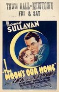"""Movie Posters:Comedy, The Moon's Our Home (Paramount, 1936). Fine/Very Fine. Window Card(14"""" X 22"""").. ..."""