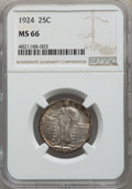 Standing Liberty Quarters: , 1924 25C MS66 NGC. NGC Census: (55/20). PCGS Population: (38/18). CDN: $800 Whsle. Bid for problem-free NGC/PCGS MS66. Mint...