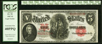 Fr. 91 $5 1907 Legal Tender PCGS Extremely Fine 40PPQ