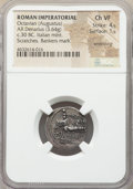 Ancients:Roman Imperial, Ancients: Octavian, as Sole Imperator (31-27 BC). AR denarius(19mm, 3.64 gm, 5h). NGC Choice VF 4/5 - 1/5, smoothing, scratches,banker...