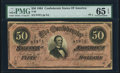 Confederate Notes:1864 Issues, T66 $50 1864 PF-1 Cr. 495 PMG Gem Uncirculated 65 EPQ.. ...