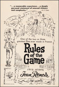 """Movie Posters:Foreign, Rules of the Game (Janus Films, 1939). Fine+ on Linen. One Sheet(27.25"""" X 40.5""""). Foreign. From the Collection of..."""
