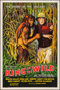 "Movie Posters:Serial, King of the Wild (Mascot, 1931). Fine+ on Linen. One Sheet (27.25""X 41""). Chapter 4 -- ""The Secret of the Volcano."" ..."