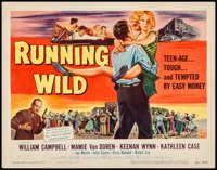 "Running Wild (Universal International, 1955). Very Fine-. Title Lobby Card (11"" X 14""). Bad Girl. From the Col..."