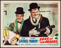 "Sons of the Desert (Film Classics, R-1944). Very Fine-. Lobby Card (11"" X 14""). Comedy. From the Collection of..."