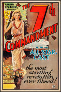"""Movie Posters:Drama, The Seventh Commandment (Roadshow Attractions, 1932). Fine+ onLinen. One Sheet (27"""" X 41""""). Drama.. ..."""