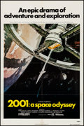 """Movie Posters:Science Fiction, 2001: A Space Odyssey & Other Lot (MGM, R-1980). Folded,Fine/Very Fine. One Sheets (2) (27"""" X 41"""") Robert McCall Art..."""