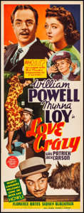 """Movie Posters:Comedy, Love Crazy (MGM, 1941). Rolled, Very Fine-. Insert (14"""" X 36"""").Comedy. From the Collection of Frank Buxton, of which the..."""