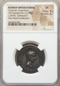 Ancients:Roman Imperial, Ancients: Octavian, as Sole Imperator (31-27 BC). AR cistophorus(26mm, 12.09 gm, 12h). NGC VF 4/5 - 4/5....