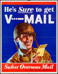 Movie Posters:War, V-Mail Advertisement (U.S. Government Printing Office, 1943).Folded, Fine/Very Fine. U.S. Army Postal Service Advert...