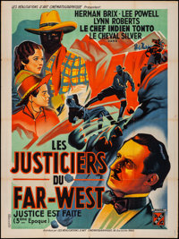 """The Lone Ranger (RAC, 1938). Folded, Fine/Very Fine. French Grande (47"""" X 63"""") Chapter 3 - """"The Pitfall.&..."""
