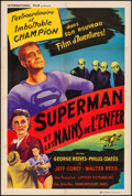 Movie Posters:Action, Superman and the Mole Men (International, 1957). Very Fine...
