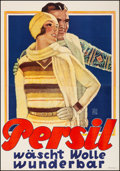 Movie Posters:Miscellaneous, Persil Advertising Poster (Persil, 1929). Very Fine. on Li...