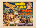 "Movie Posters:Action, Tiger Fangs (PRC, 1943). Fine/Very Fine. Half Sheet (22"" X 28"") Style A. Action.. ..."