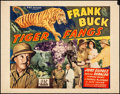 """Movie Posters:Action, Tiger Fangs (PRC, 1943). Fine+. Half Sheet (22"""" X 28"""") Style B. Action.. ..."""