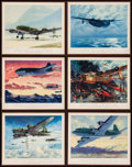 "Movie Posters:Miscellaneous, Aviation Prints by Charles H. Hubbell (Thompson Products Inc.,1945). Very Fine+. Art Portfolio (12 Images, 15.5"" X 1..."