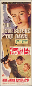 """Movie Posters:War, The Hour Before the Dawn (Paramount, 1944). Fine/Very Fine on Paper. Insert (14"""" X 36""""). War.. ..."""