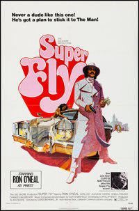 "Super Fly (Warner Brothers, 1972). Folded, Very Fine-. One Sheet (27"" X 41"") Tom Jung Artwork. Blaxploitation..."