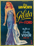 "Movie Posters:Film Noir, Gilda (Columbia, R-1972). Folded, Very Fine+. French Grande (46.5""X 62"") Boris Grinsson Artwork. Film Noir.. ..."
