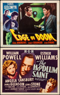 """Movie Posters:Drama, The Hoodlum Saint & Other Lot (MGM, 1946). Very Fine-. TitleLobby Card & Lobby Card (11"""" X 14""""). Drama.. ... (Total: 2Items)"""