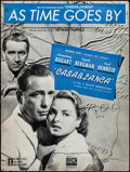 """Movie Posters:Academy Award Winners, Casablanca (Warner Brothers, 1942). Fine/Very Fine. Sheet Music (8Pages, 9"""" X 12"""") """"As Time Goes By."""" Academy Award ..."""