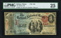 National Bank Notes:Maine, Belfast, ME - $1 1875 Fr. 383 The Belfast NB Ch. # 840 PMG VeryFine 25.. ...