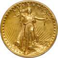 High Relief Double Eagles, 1907 $20 High Relief, Wire Rim AU53 PCGS....