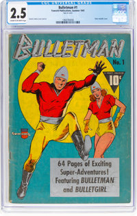 Bulletman #1 (Fawcett Publications, 1941) CGC GD+ 2.5 Cream to off-white pages
