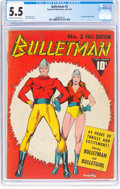 Golden Age (1938-1955):Superhero, Bulletman #2 (Fawcett Publications, 1941) CGC FN- 5.5 Cream to off-white pages....