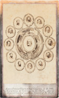 """Photography:CDVs, Robert E. Lee: Unusual Variant of the """"Military Medallion"""" Carte-de-Visite [CDV] by Rockwell & Cowell, after Rees. ..."""