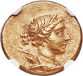 Ancients:Greek, Ancients: IONIA. Magnesia ad Maeandrum. Ca. 155-145 BC. AV stater (19mm, 8.44 gm, 12h). NGC Choice AU 4/5 - 4/5....