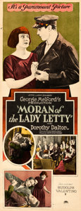 """Movie Posters:Adventure, Moran of the Lady Letty (Paramount, 1922). Rolled, Fine/Very Fine. Insert (14"""" X 36"""").. ..."""