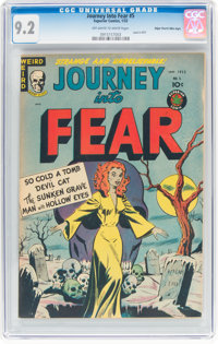 Journey Into Fear #5 Mile High Pedigree (Superior Comics, 1952) CGC NM- 9.2 Off-white to white pages