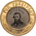 Political:Ferrotypes / Photo Badges (pre-1896), Ulysses S. Grant: Choice Ferrotype Badge....