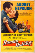 "Movie Posters:Romance, Roman Holiday (Paramount, R-1960). Rolled, Fine+. Poster (40"" X60""). Romance.. ..."