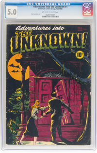 Adventures Into The Unknown #1 (ACG, 1948) CGC VG/FN 5.0 Off-white to white pages