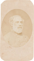 Photography:CDVs, Robert E. Lee: Rare 1863 Carte-de-Visite [CDV] by Minnis & Cowell....
