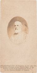 "Photography:CDVs, Robert E. Lee: ""In the Field"" Salt Print on CDV Mount...."