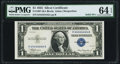 Small Size:Silver Certificates, Solid 4 Serial Fr. 1607 $1 1935 Silver Certificate. PMG Choice Uncirculated 64 EPQ.. ...