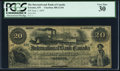 Canadian Currency, Toronto, ON- International Bank of Canada $20 1.6.1859 Ch.# 380-12-04 PCGS Very Fine 30.. ...