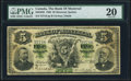 Canadian Currency, Montreal, PQ- Bank of Montreal $5 2.1.1888 Ch.# 505-38-02 PMG VeryFine 20.. ...