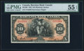 Canadian Currency, Montreal, PQ- Barclays Bank (Canada) $10 2.1.1935 Ch.# 30-12-08 PMGAbout Uncirculated 55 EPQ.. ...